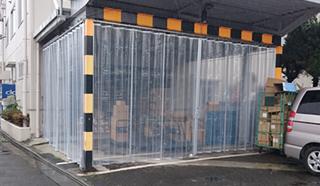 透明ジャバラビニールカーテン