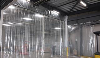 糸入り透明ビニールカーテン