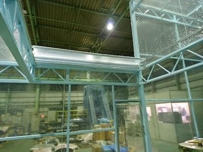 ビニールロールスクリーンの工場設置例