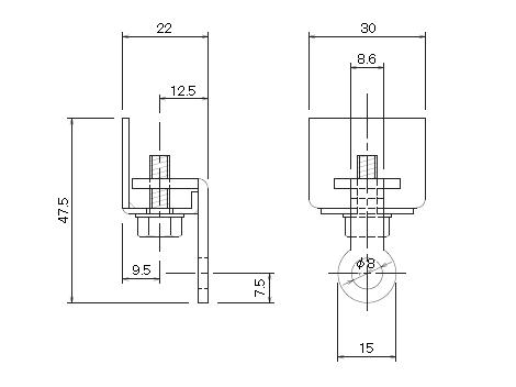 D30 キャップストップブラックの寸法図-1