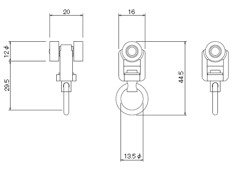 D30ランナーNの寸法図