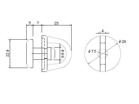 OSキャップセット(ダーク)の寸法図-1