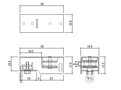 D30 引分車(1車・2車セット)の寸法図-2