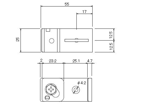 D30 吊ブラケットBタイプの寸法図-2