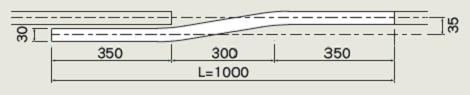 D30 アルミ交差レールの寸法図-2