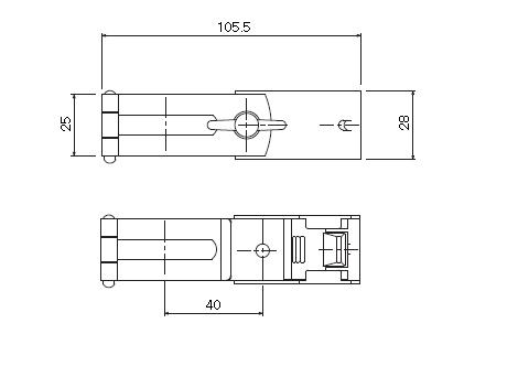 D30 パイプバンド付ブラケット32φ用の寸法図-1