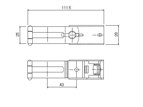 D30 パイプバンド付ブラケット38φ用の寸法図-1