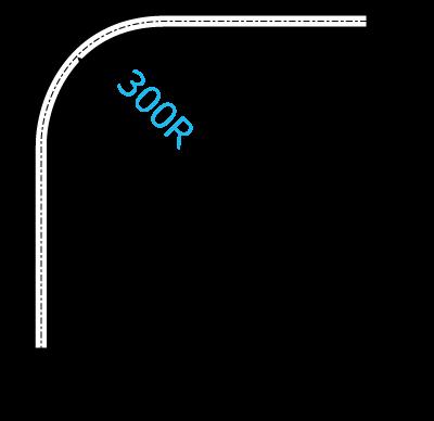D30隙間シートカーブレール
