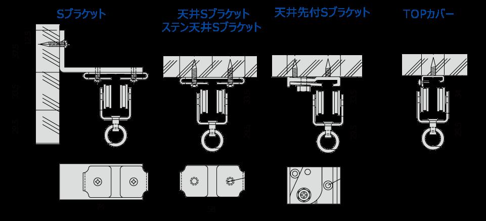 ベンダー取付寸法図(mm)