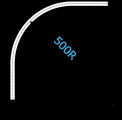 XGカーブレール寸法図
