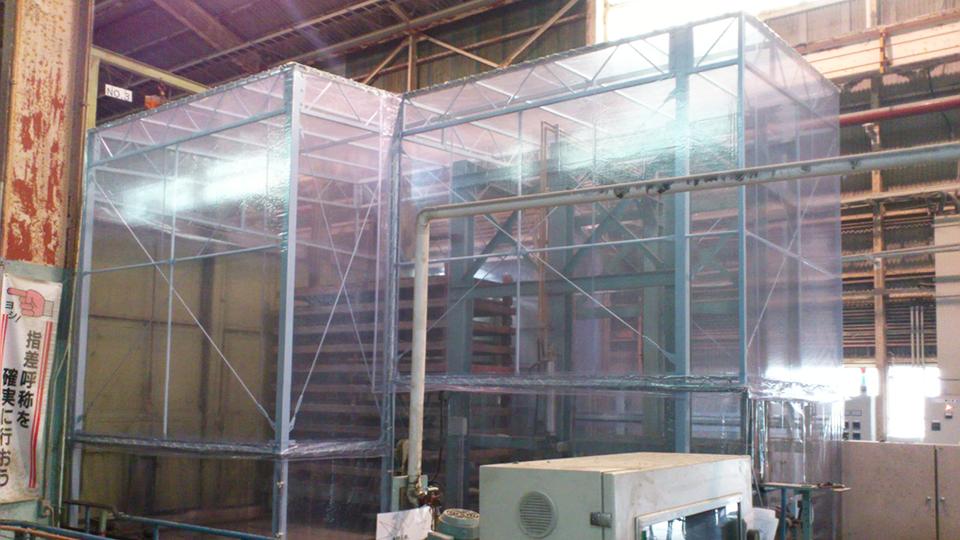 兵庫県加東市・鉄骨フレーム式・W6.8m×L8.4m変形