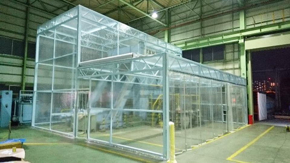 千葉県船橋市・鉄骨フレーム式・W9.5m×L9.1m変形