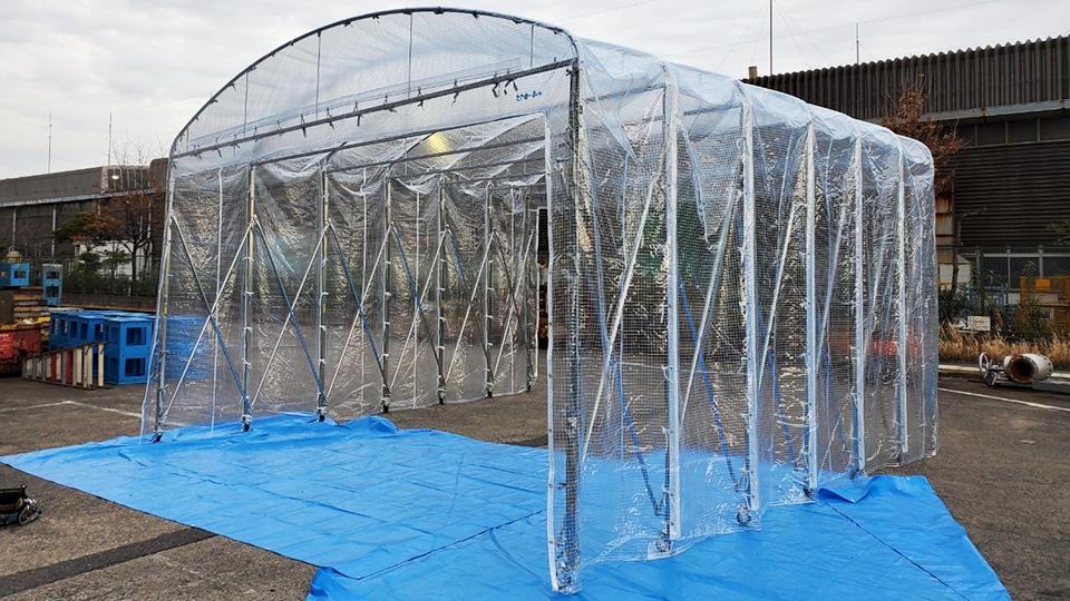 千葉県市原市・伸縮式・W5.8m×L6m
