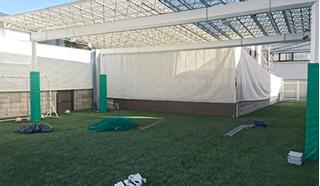 ターポリンメッシュビニールカーテン