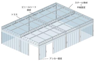 大型間仕切りブース施工例-1