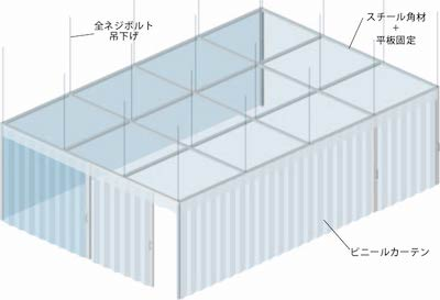 天井吊ブース施工例-1