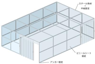 小型間仕切りブース施工例-1