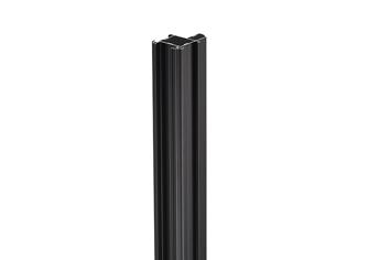 サイドポール「押さえバータイプ」4m ブラック