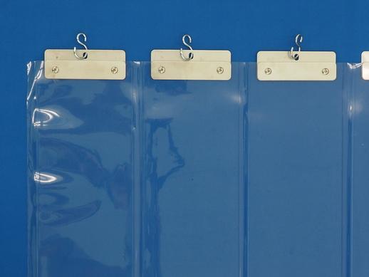 透明ジャバラビニールカーテン 防炎透明1.3mmt