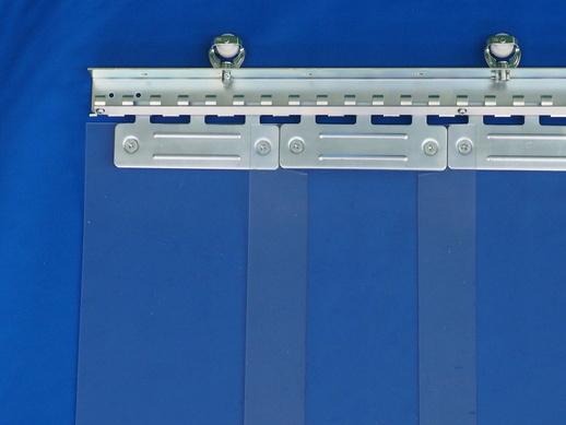のれんカーテン可動式 帯電防止防炎透明 2mmt×200mm幅