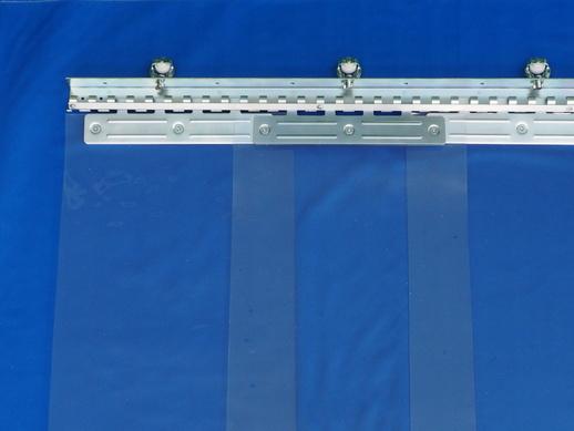 のれんカーテン可動式 帯電防止防炎透明 2mmt×300mm幅
