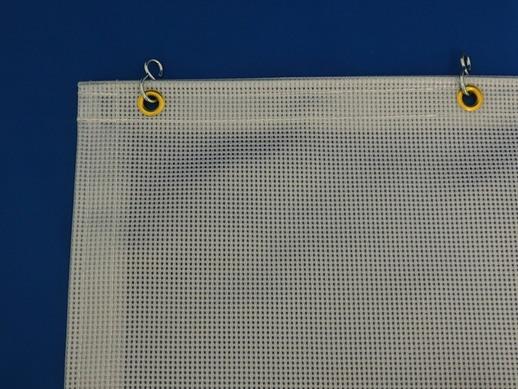 透明糸入ビニールカーテン KN-800 採光