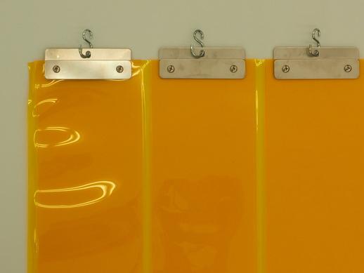 透明ジャバラビニールカーテン 防炎防虫透明1.3mmt