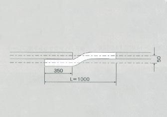 D40 スチール交差レール L=1000