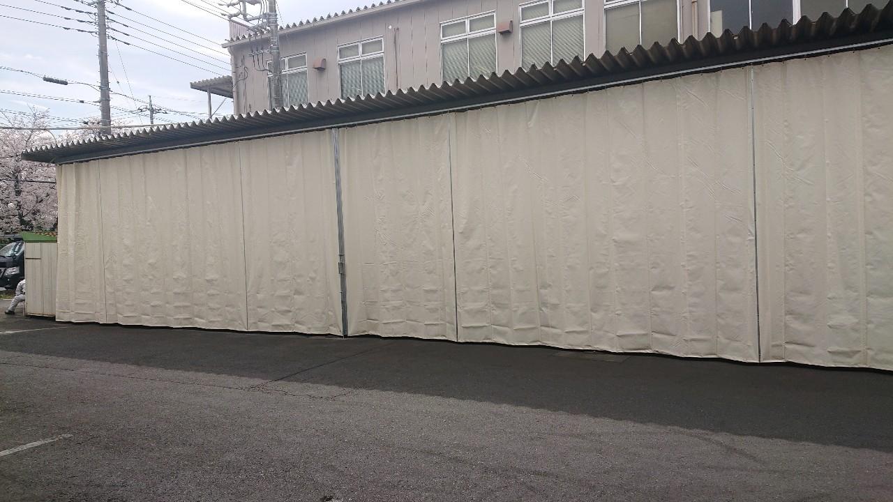 施工事例雨よけビニールカーテン